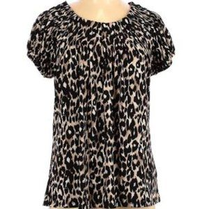 Style and Co. Short Sleeve Blouse Size L